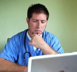 Image of a nurse for our FAQ about online nursing programs