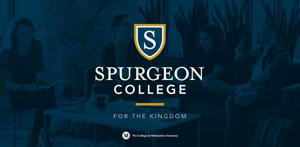 The logo for Spurgeon College which offers a great degree in biblical studies online
