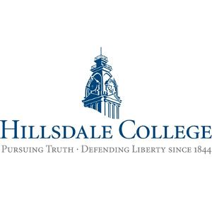 The logo for Hillsdale College most which is one of the best conservative university