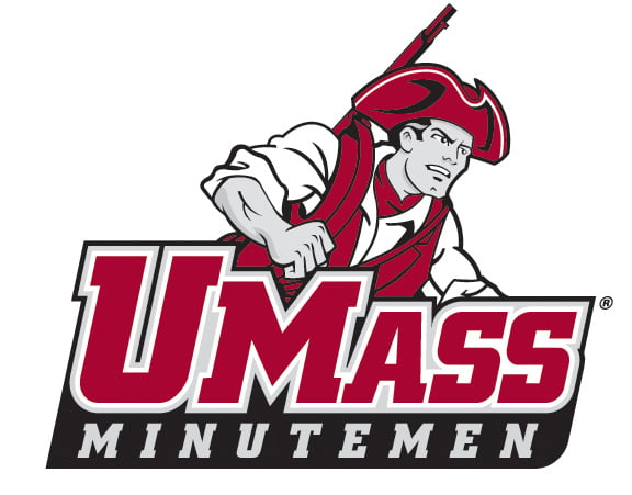 The logo for the University of Massachusetts which placed 8th in our ranking of colleges with rowing teams