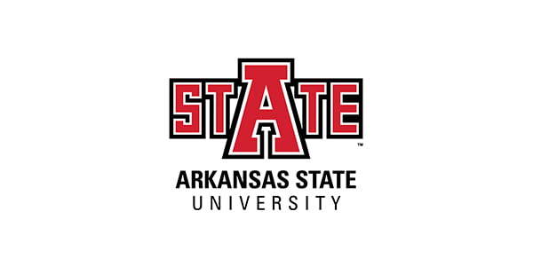 The logo for Arkansas State University which ranked 1st in our article on the best schools for Supply Chain Management degrees