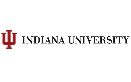 The logo for Indiana University which has a great degree for suply management