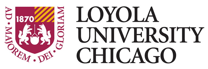 The logo for Loyola University which offers a great online masters degree no gre or gmat