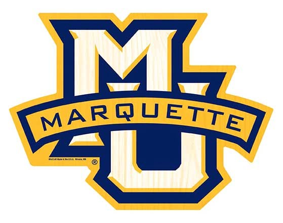 The logo for Marquette University which has a online masters no gre or gmat