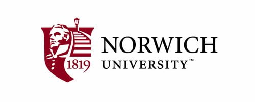 The logo for Norwich University which has a online masters degree with no gre or gmat