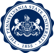 The log for Pennsylvania State University Which is one of the best colleges in the mountains