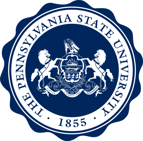 The logo for Pennsylvania State University which has a great online mba supply chain management no gmat