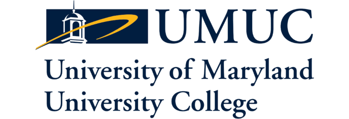 The logo for University of Maryland University College which  has an Online Master's in Management – Acquisition and Supply Chain Management