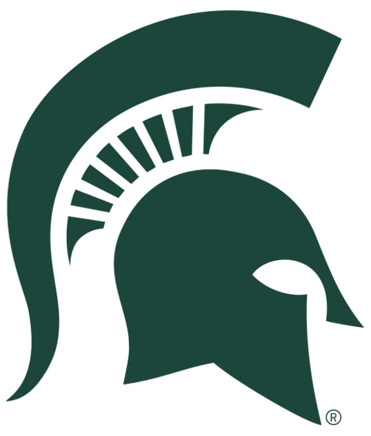 The logo for MSU which placed 18th in our ranking for best crew colleges