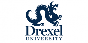 The logo for Drexel University which placed 25th for best phd marketing online