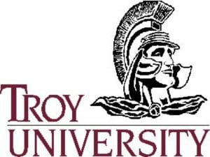 The logo for Troy University which offers a great online graduate degree in history