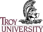 The logo for Troy University which offers one of the cheapest online mpa