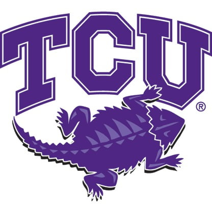The logo for TCU which is a top college for republicans