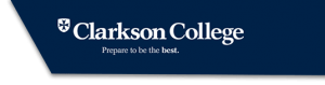 The logo for Clarkson College  whose educational leadership online program offers part-time or full-time options