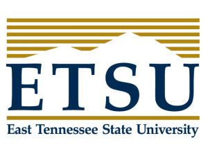The logo for East Tennessee State University  which placed 14th in our ranking of Top 30 Phd Doctorate in Educational Leadership Online