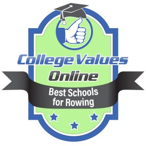 The badge awarded by College Values Online to the best schools for rowing