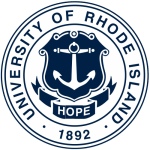 The logo for University of Rhode Island's Online PhD in Computer Science program is at the top