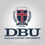 Logo of Dallas Baptist University for our list of top online master's HR