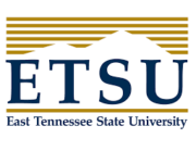 The logo for East Tennessee State University which has a top Bachelor of Arts in International Affairs