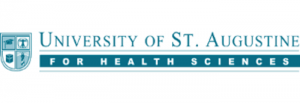 The logo for University of St. Augustine for Health Sciences which has a top Online EdD in Athletic Training