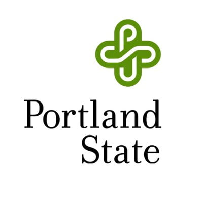 The logo for Portland State University which is one of the top colleges in the pacific northwest