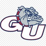 The logo for GU which is one of the best girls basketball college
