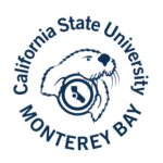 The logo for California State University which is a beach college