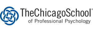 The logo for the Chicago School of Professional Psychology  which has a great Online PhD in Business Psychology program