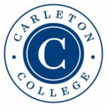 The logo for Carleton which has one of the best campuses in the us