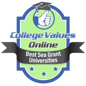 The badge awarded by cvo to the best sea grant university