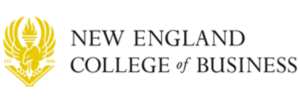 The logo for New England College of Business and Finance which ahs one of the best best online associate degrees