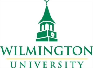 The logo for Wilmington University which offers a top Online Master of Science in Justice Administration