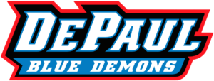 The logo for DePaul University which is one of the best colleges to play women's basketball