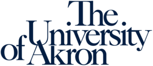 The logo for University of Akron which offers a top food since program