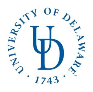 The logo for the University of Delaware which is one of the  best schools for food science degrees