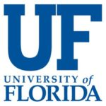 The logo for University of Florida which is 1st in our ranking for geologist online degree