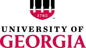 The logo fo University of Georgia which offers a great food science degree