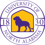 The logo for University of North Alabama which offers a great accelerated online degree in criminal justice