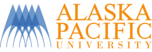 The logo for Alaska Pacific University which placed 11th for  schools with the best marine science programs