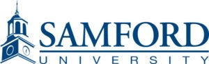 The logo for Samford University which ranked 15th for marine science degree schools