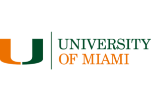 The logo for University of Miami which placed 19th in our ranking of top marine science degrees