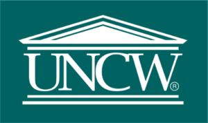 The logo for UNCW with is the best school for marine science