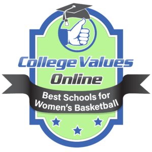 The badge awarded by CVO to the Best Schools for Women's Basketball.