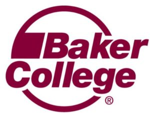 The logo for Baker College which offers a great Online DBA