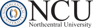 The logo for Northcentral University which has a great online phd in marketing program
