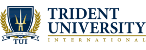 The logo for Trident University International which is the best school for phd marketing online