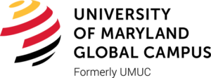 The logo for University of Maryland wich ranked 7th for top doctorate in marketing online