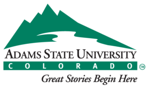 The logo for Adams State University which has a top online english degree
