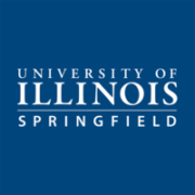 The logo for University of Illinois at Springfield which placed first in our ranking of English Degree Online: Top 15 Values