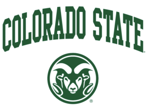 The logo for Colorado State University which ranked 22nd for best online phd programs in educational leadership